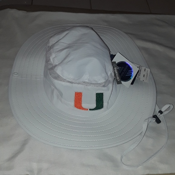 d3403248 adidas Accessories | University Of Miami Safari Hat Nwt | Poshmark